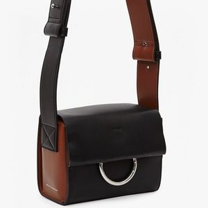 French Connection Faux Leather Boxy Buckle Bag